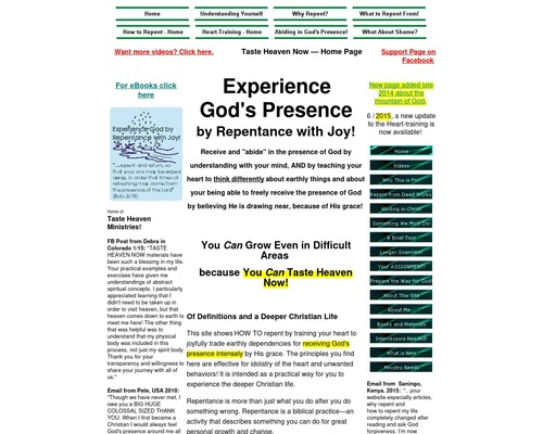 Experience God! Receive God's Presence by Repentance with Joy!